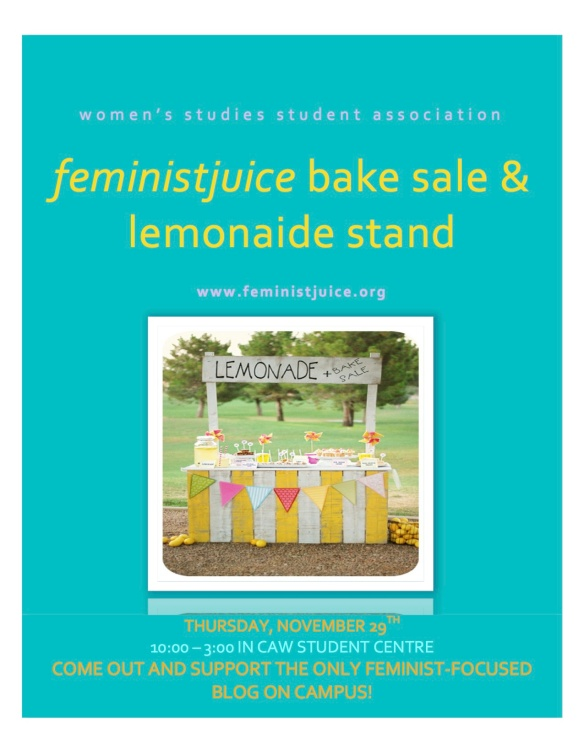 feministjuice bake sale and lemonade stand