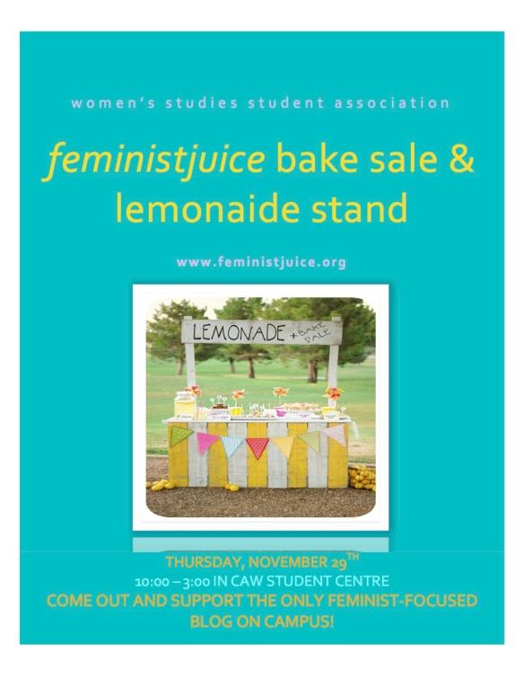 feministjuice bake sale and lemonade stand